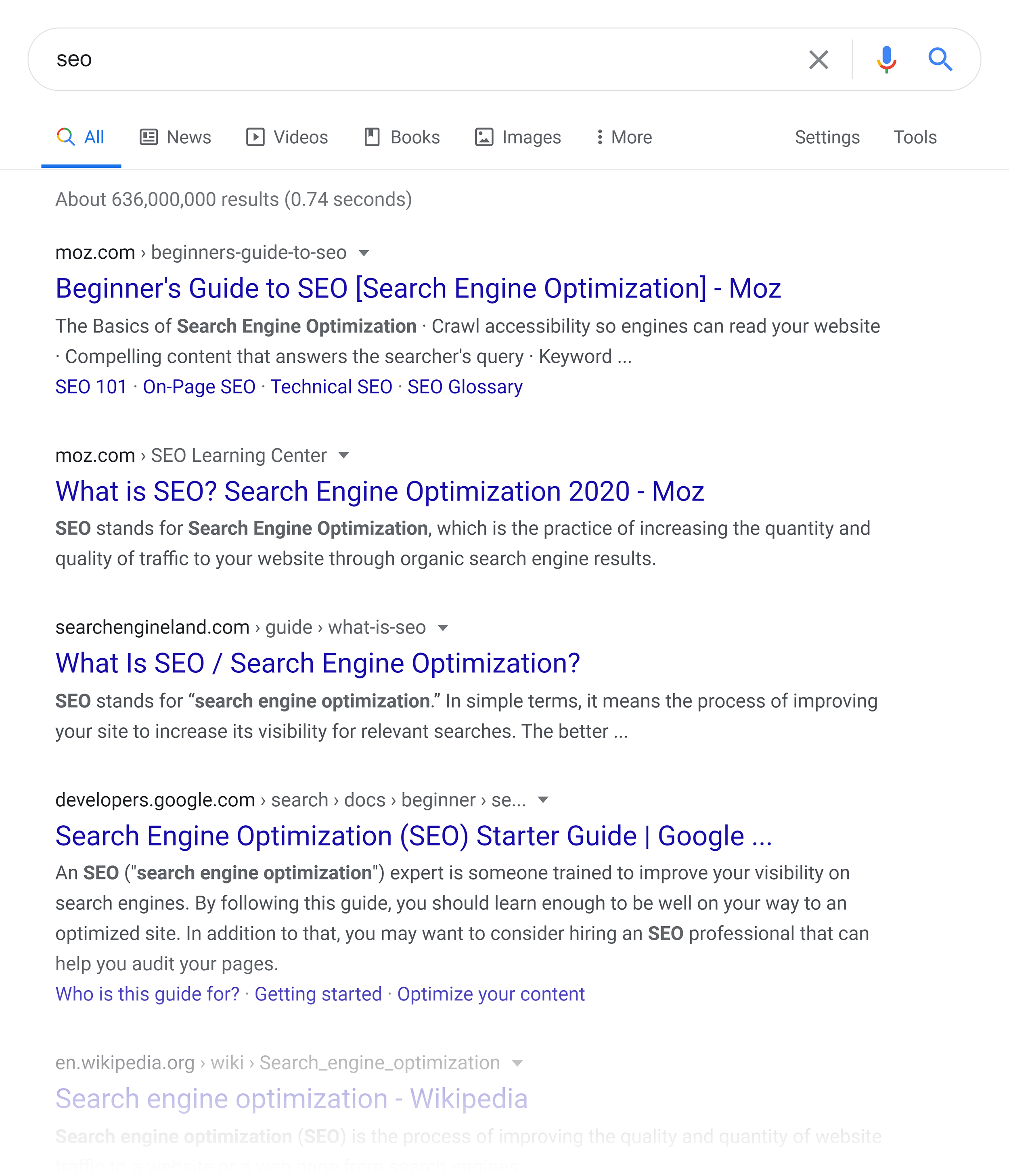Google SERP – SEO
