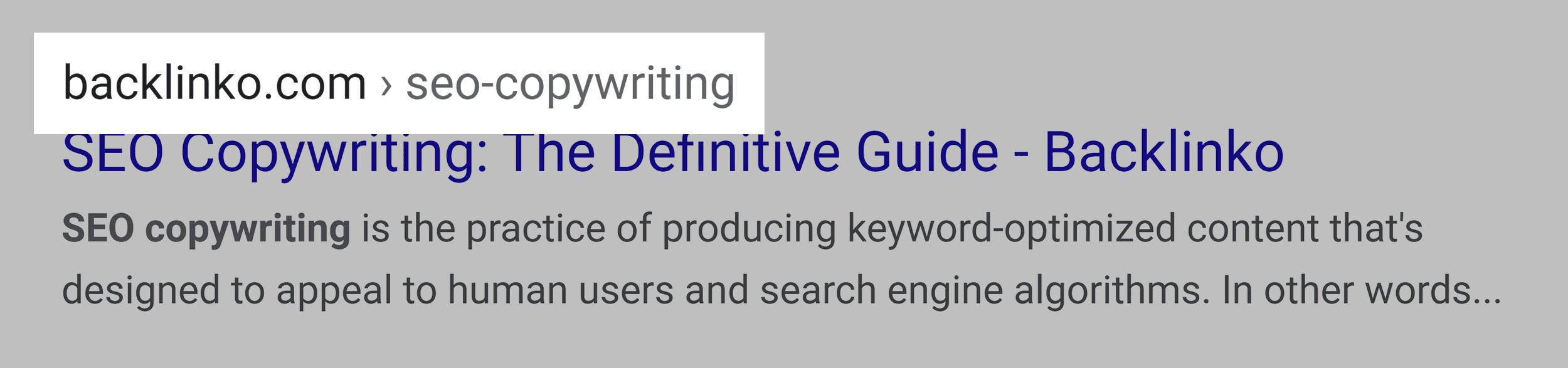 SEO copywriting – Post URL