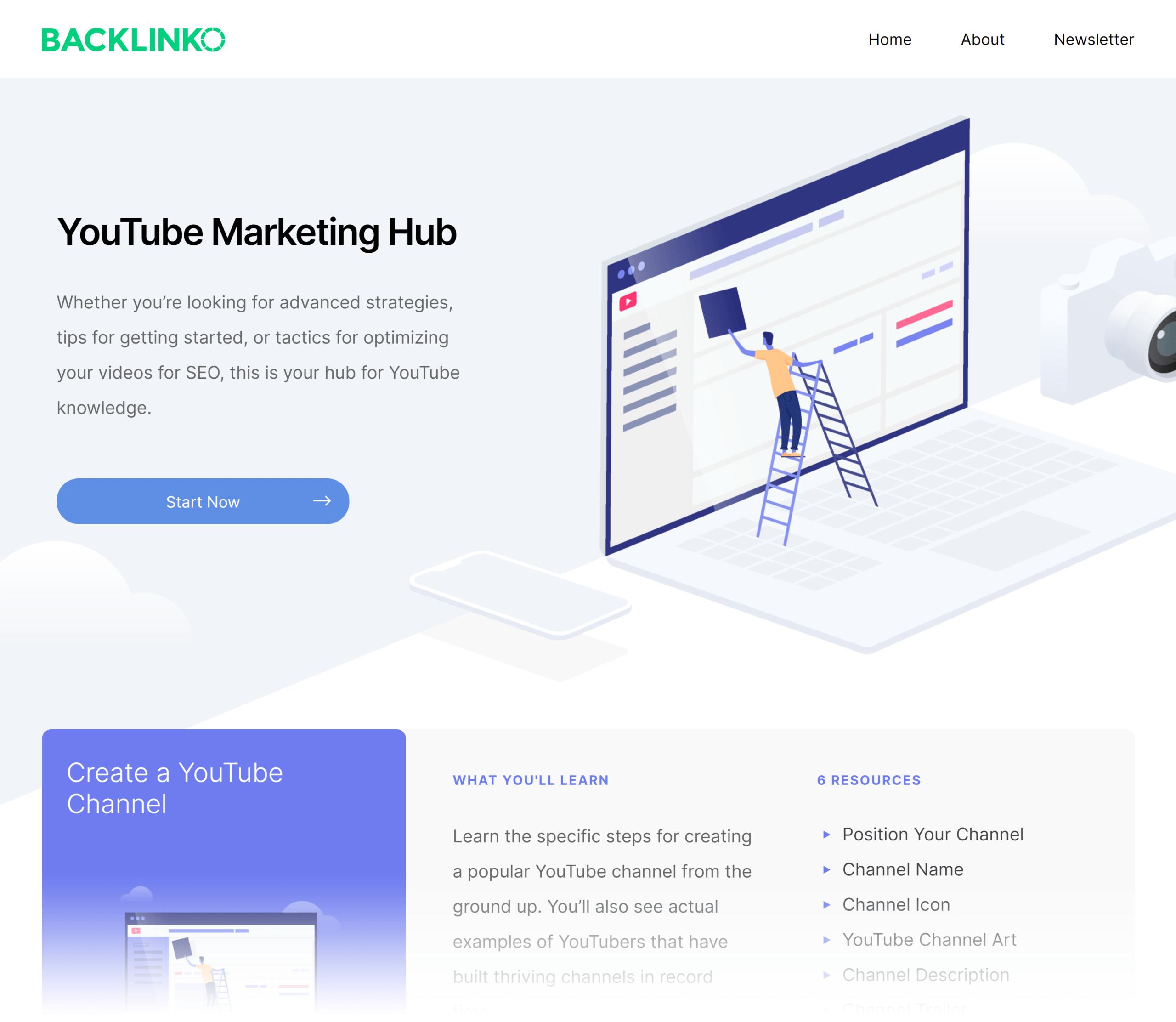 Backlinko – Hub – YouTube