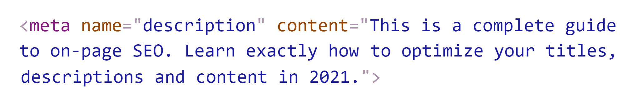 Post meta description