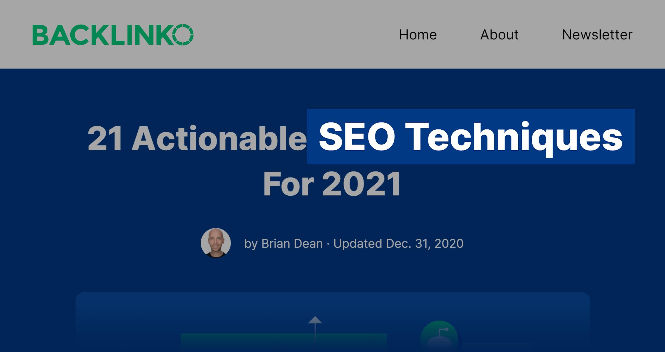 SEO techniques post keyword