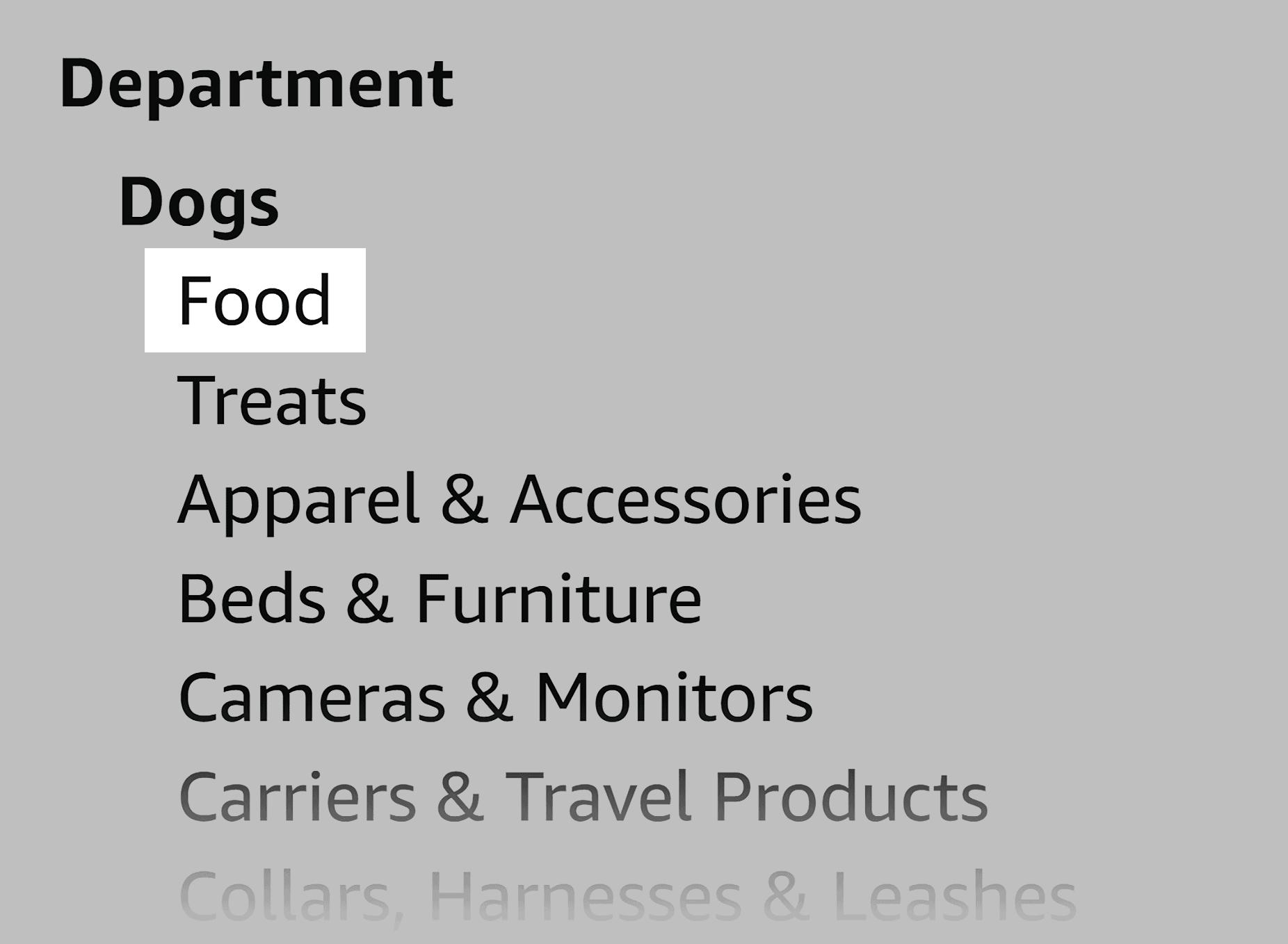 Amazon – Dogs department