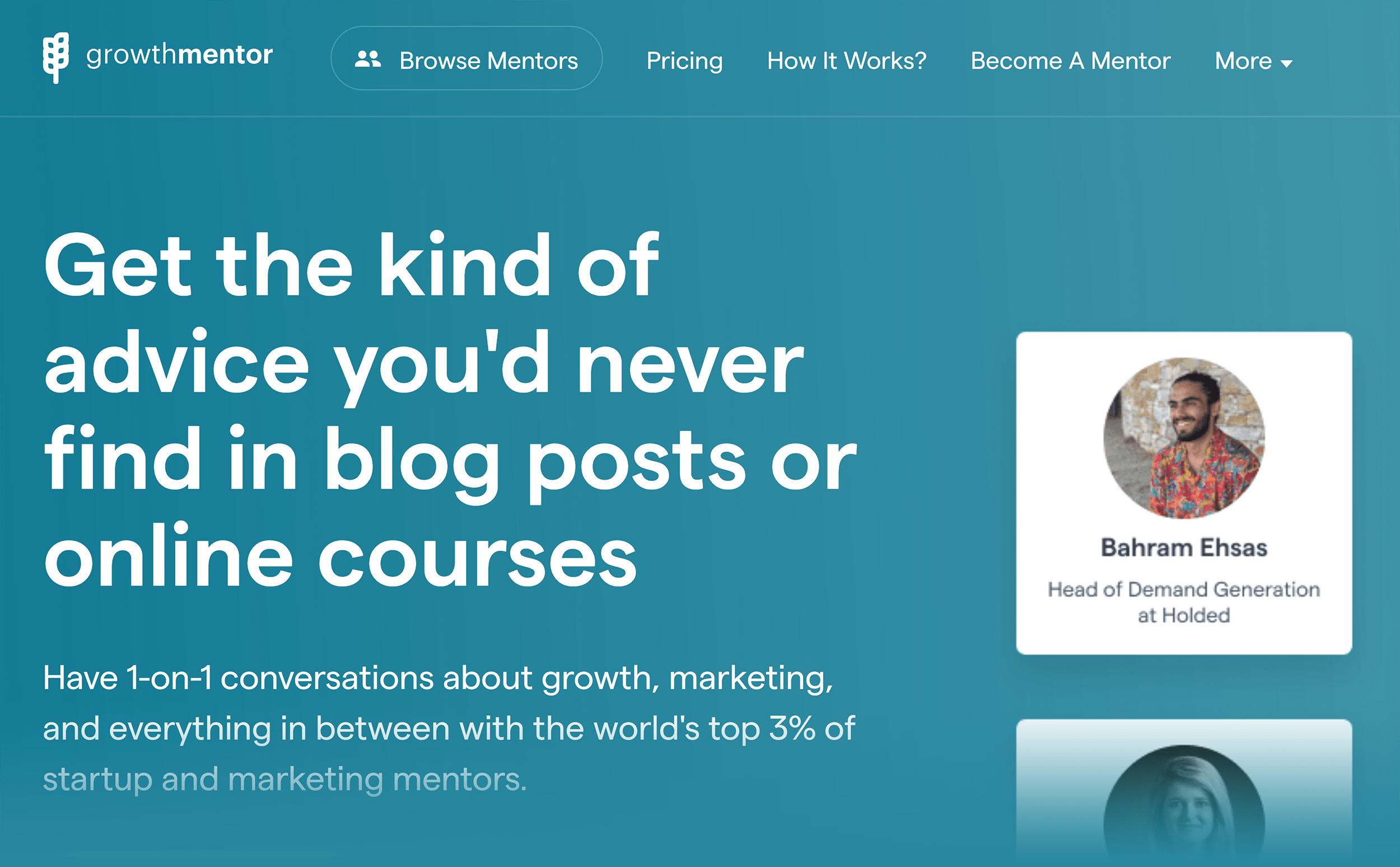 Growth Mentor – Headline