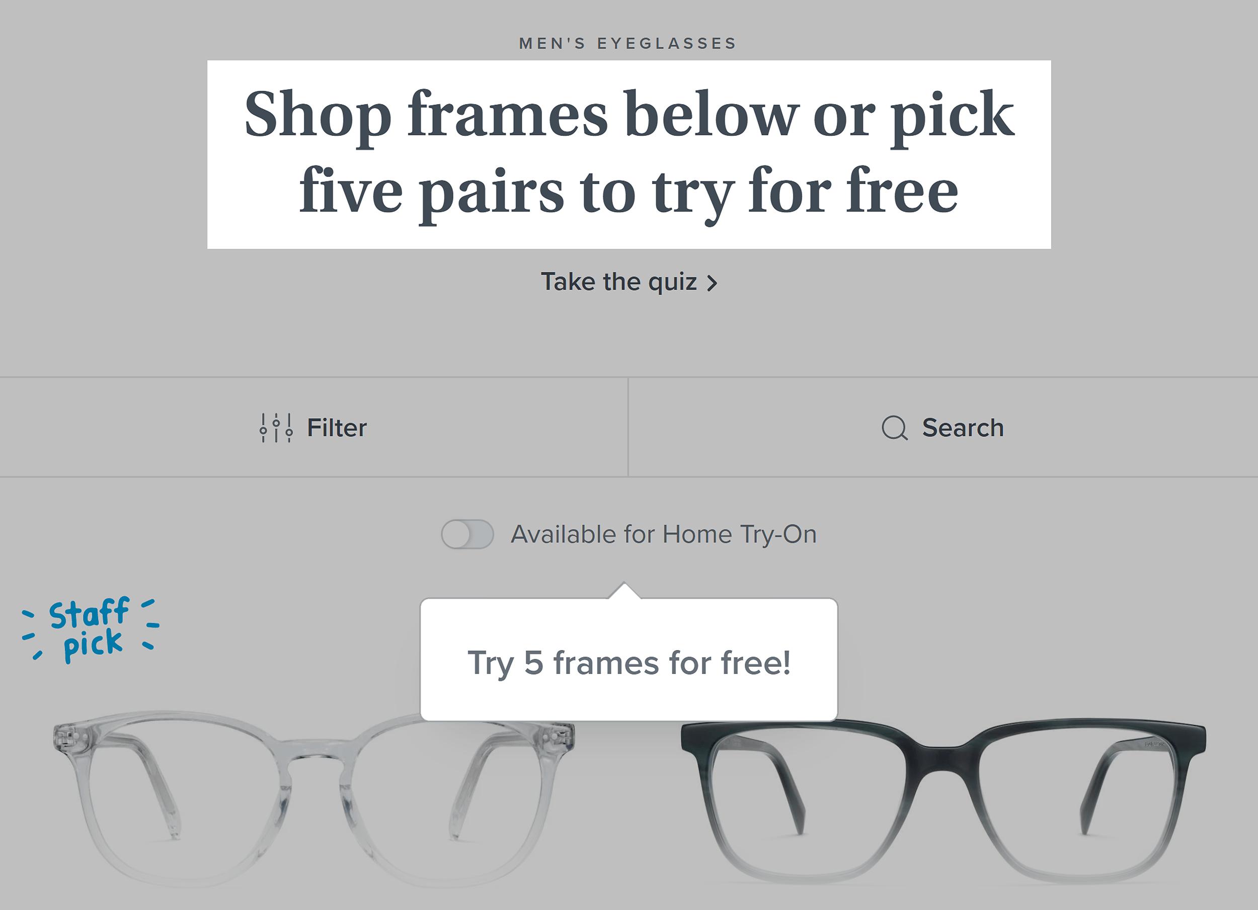 Warby Parker – Offer