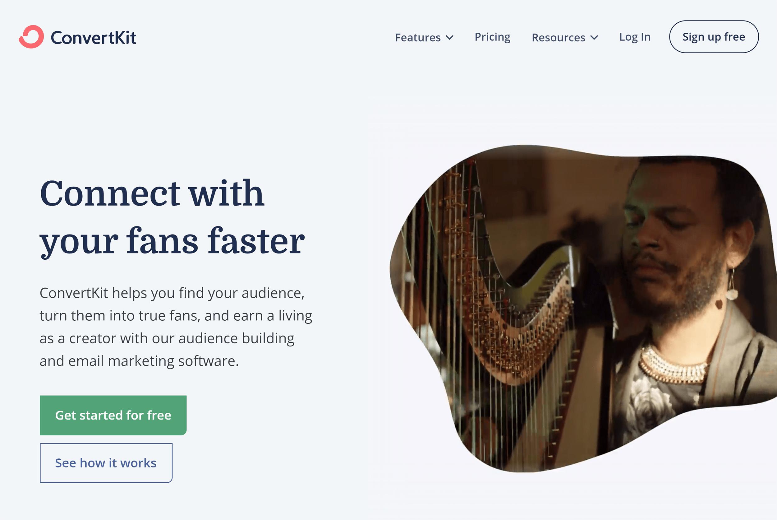 Convertkit – Homepage