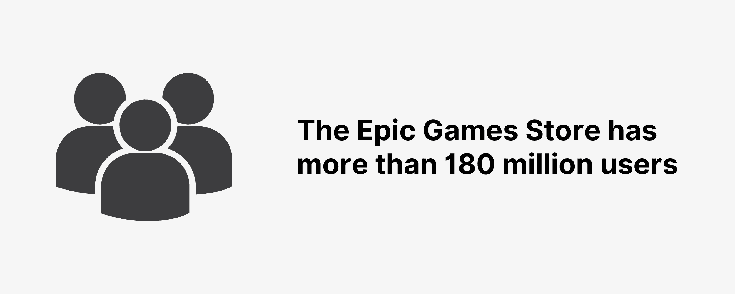 The Epic Games Store has more than 180 million users