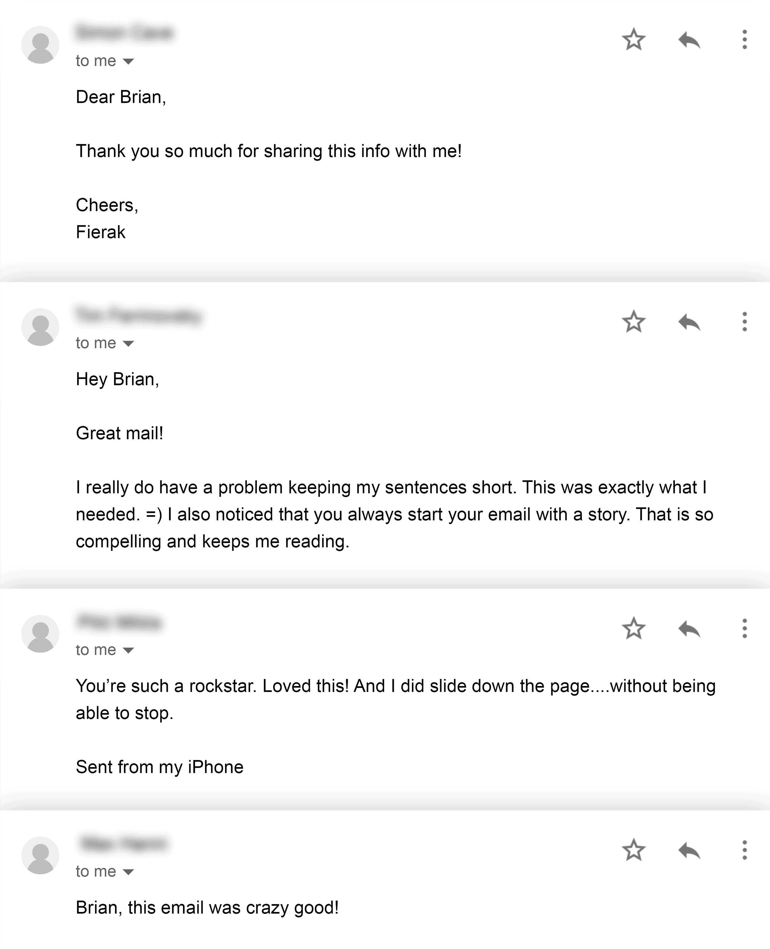 Newsletter email replies