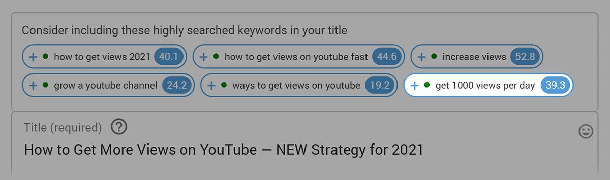 VidIQ – Boost unrelated keywords