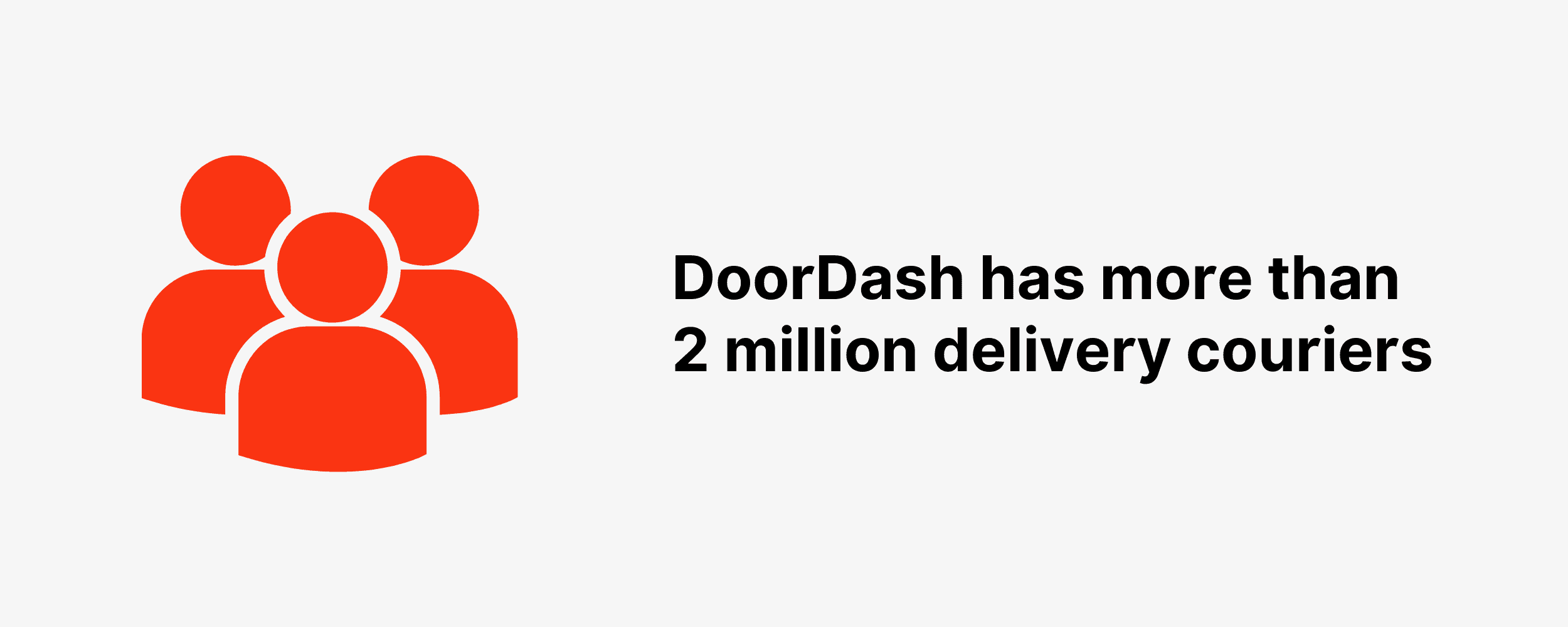 DoorDash has more than 2 million delivery couriers