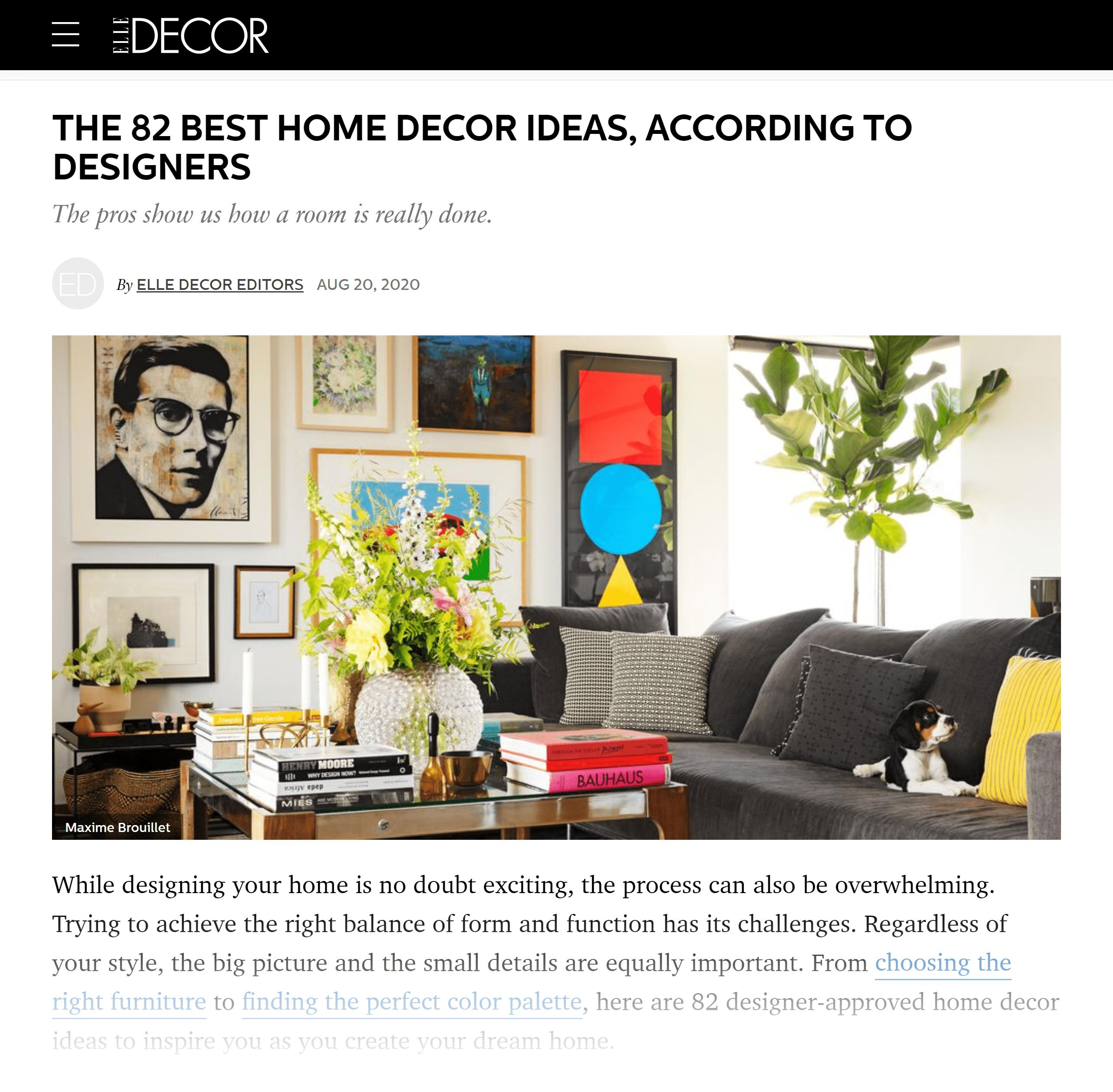 Elle Decor – Home decor ideas