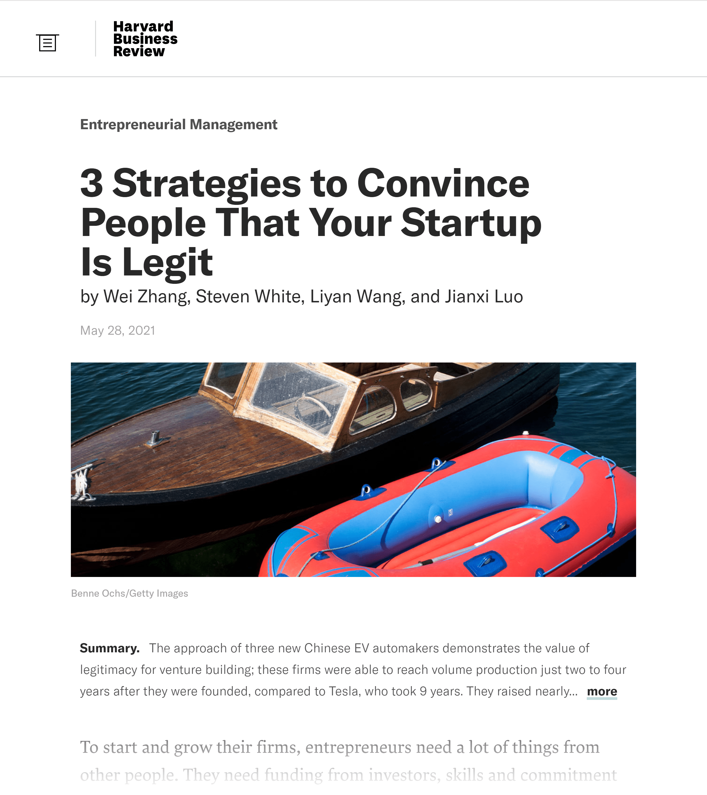 HBR – Strategies to convince people