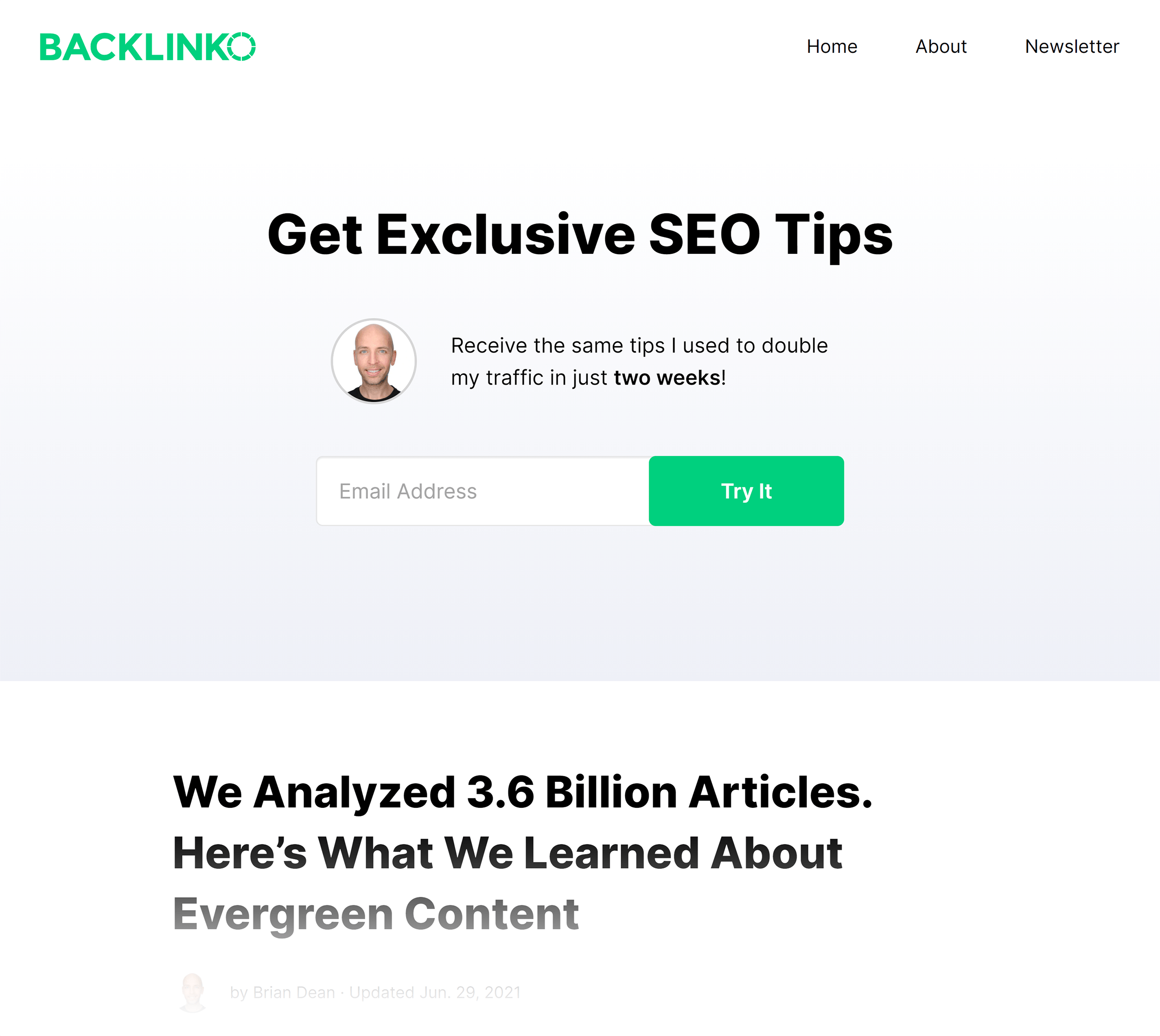 Backlinko blog feed