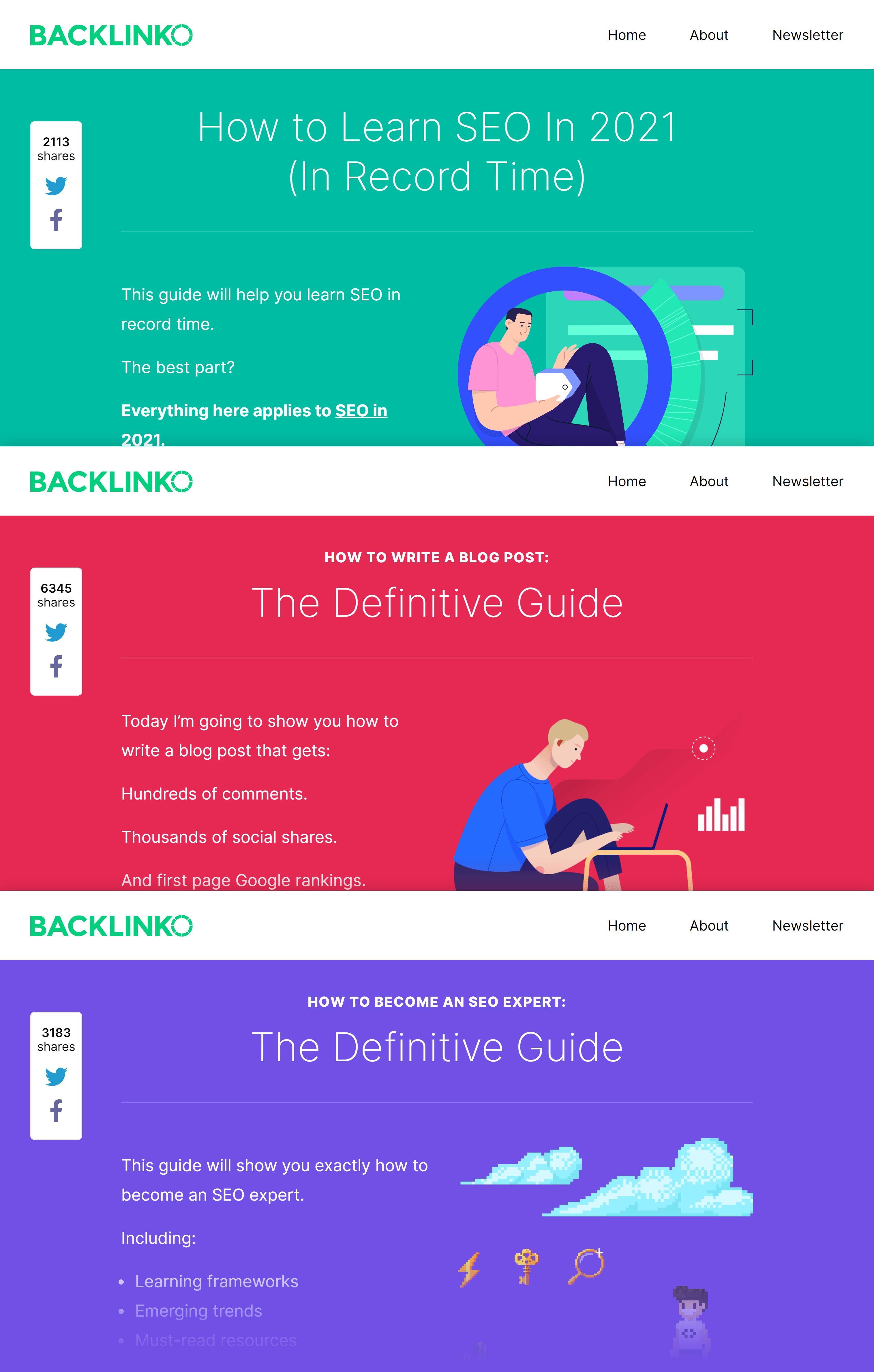 Backlinko content collage