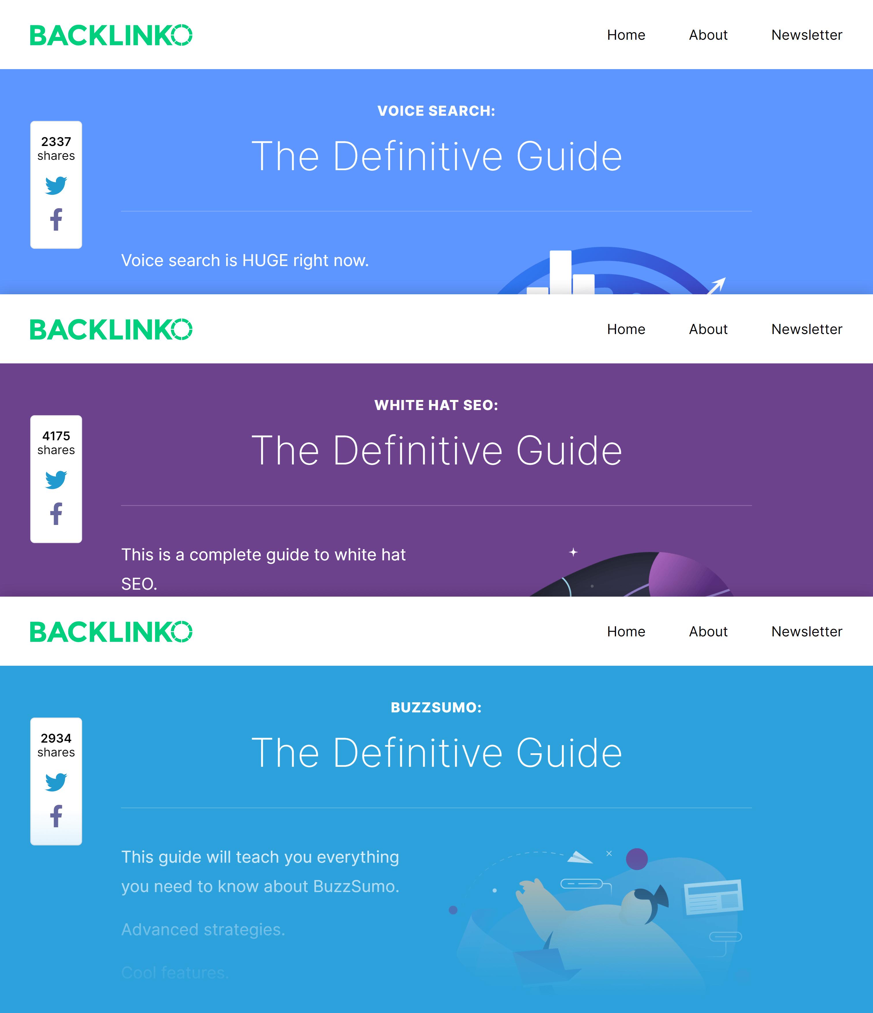 Backlinko custom designed guides