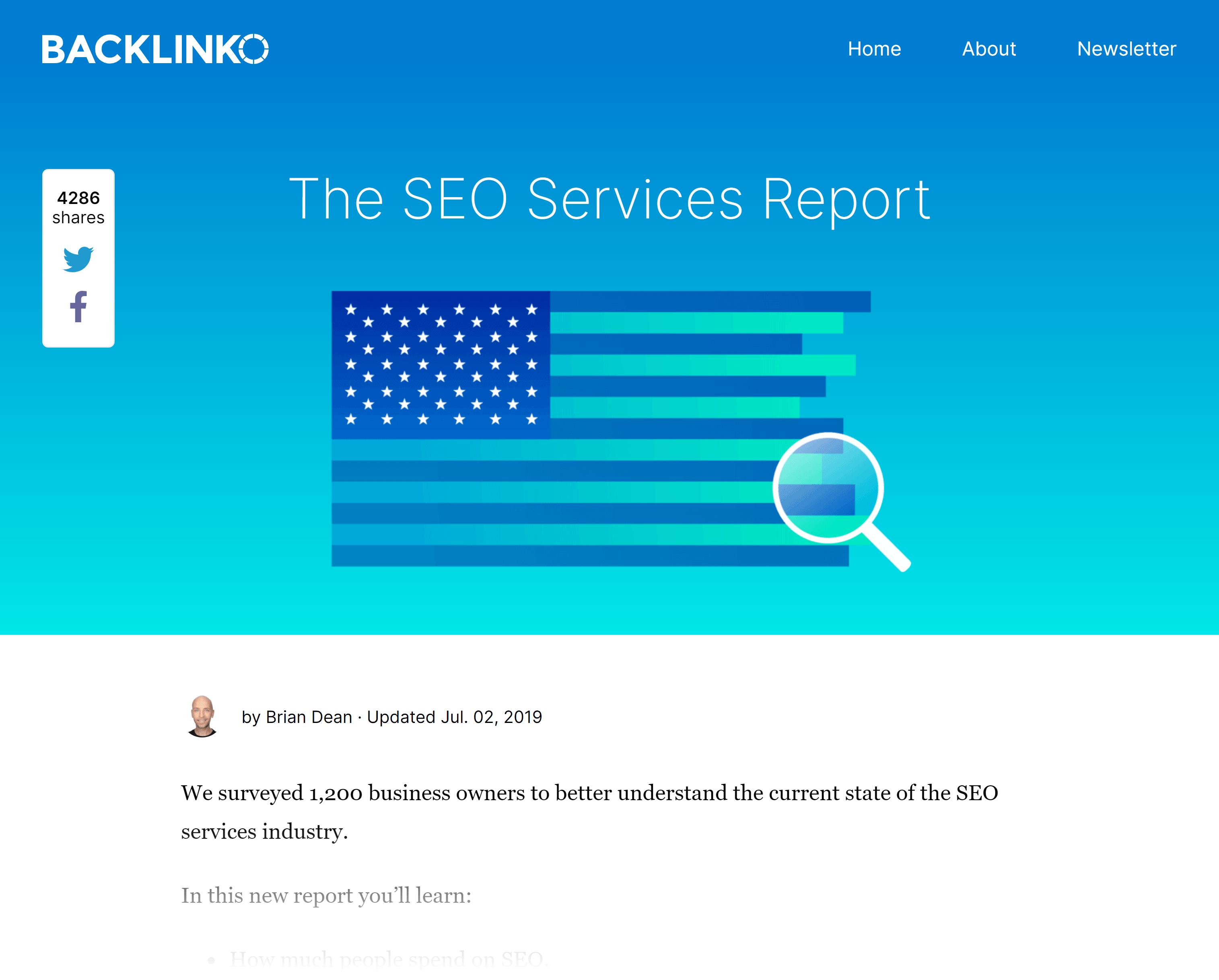 Backlinko – SEO services statistics