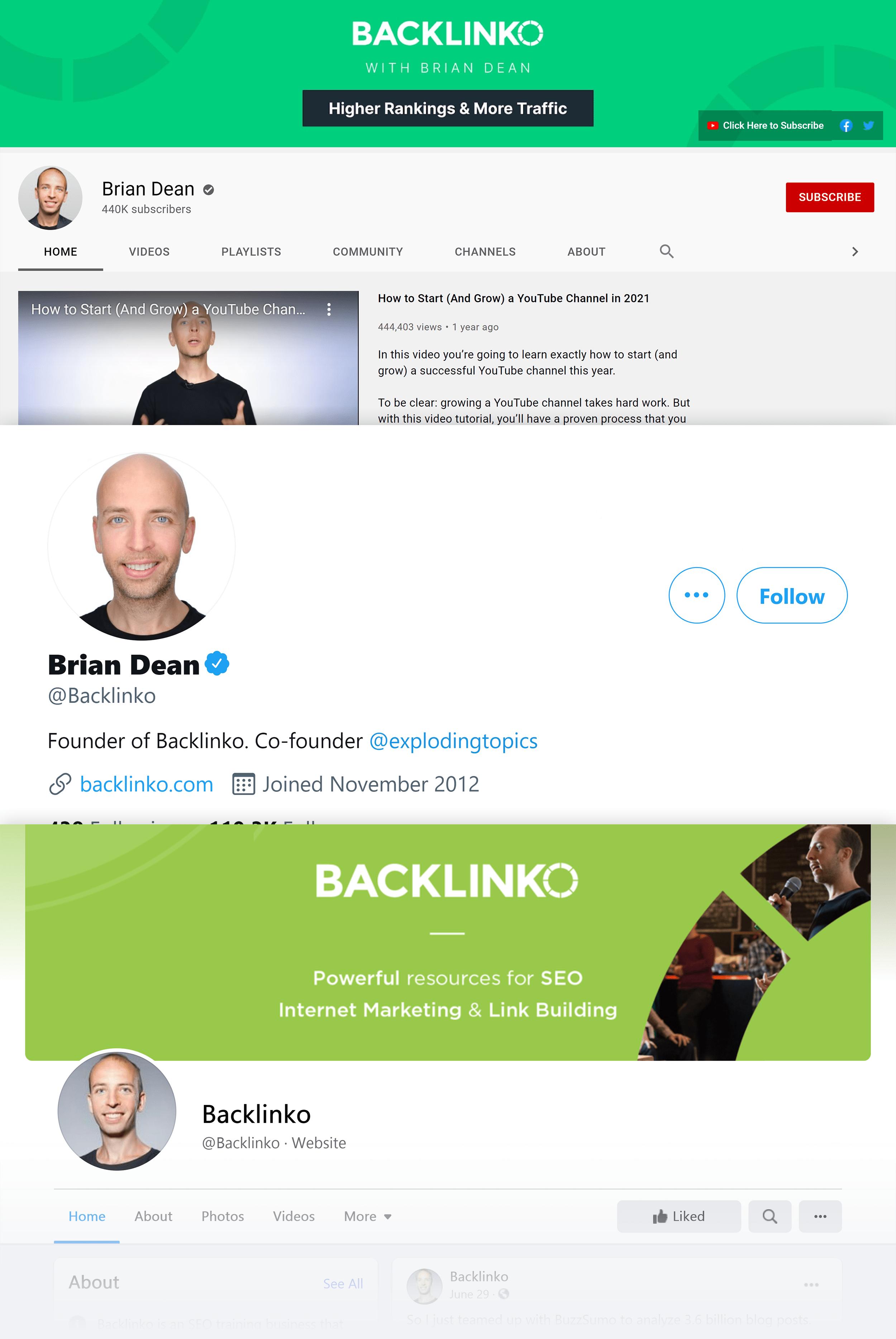 Backlinko social networks