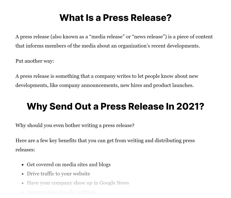 Big headers in post