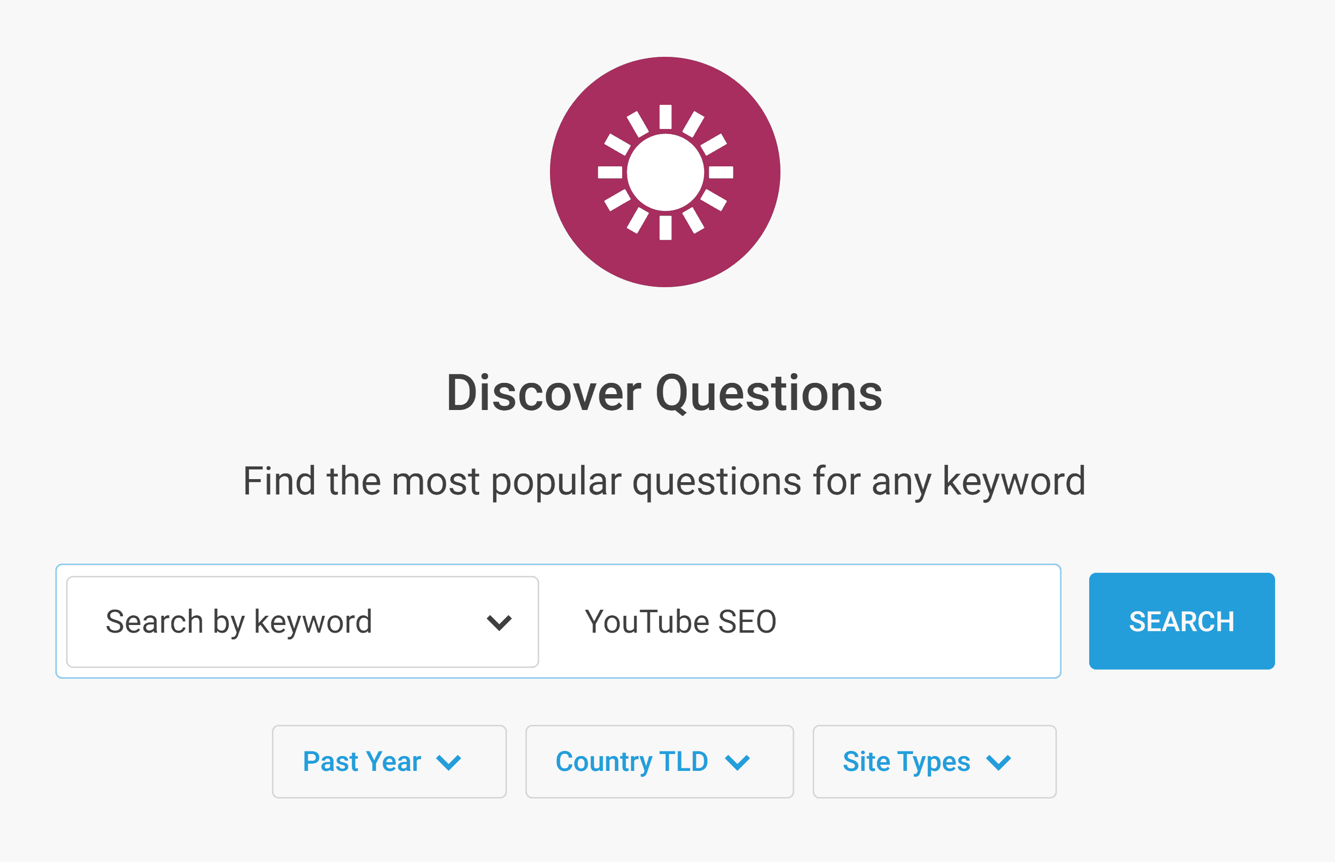 Buzzsumo – Discover Questions – YouTube SEO