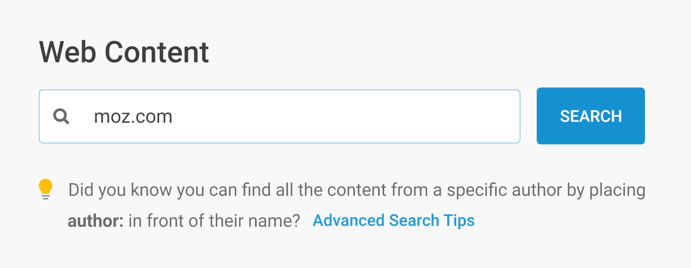 Buzzsumo – Web search – Moz