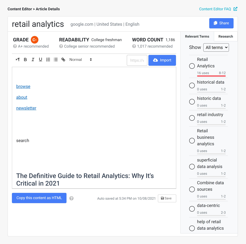 Clickflow – Content editor