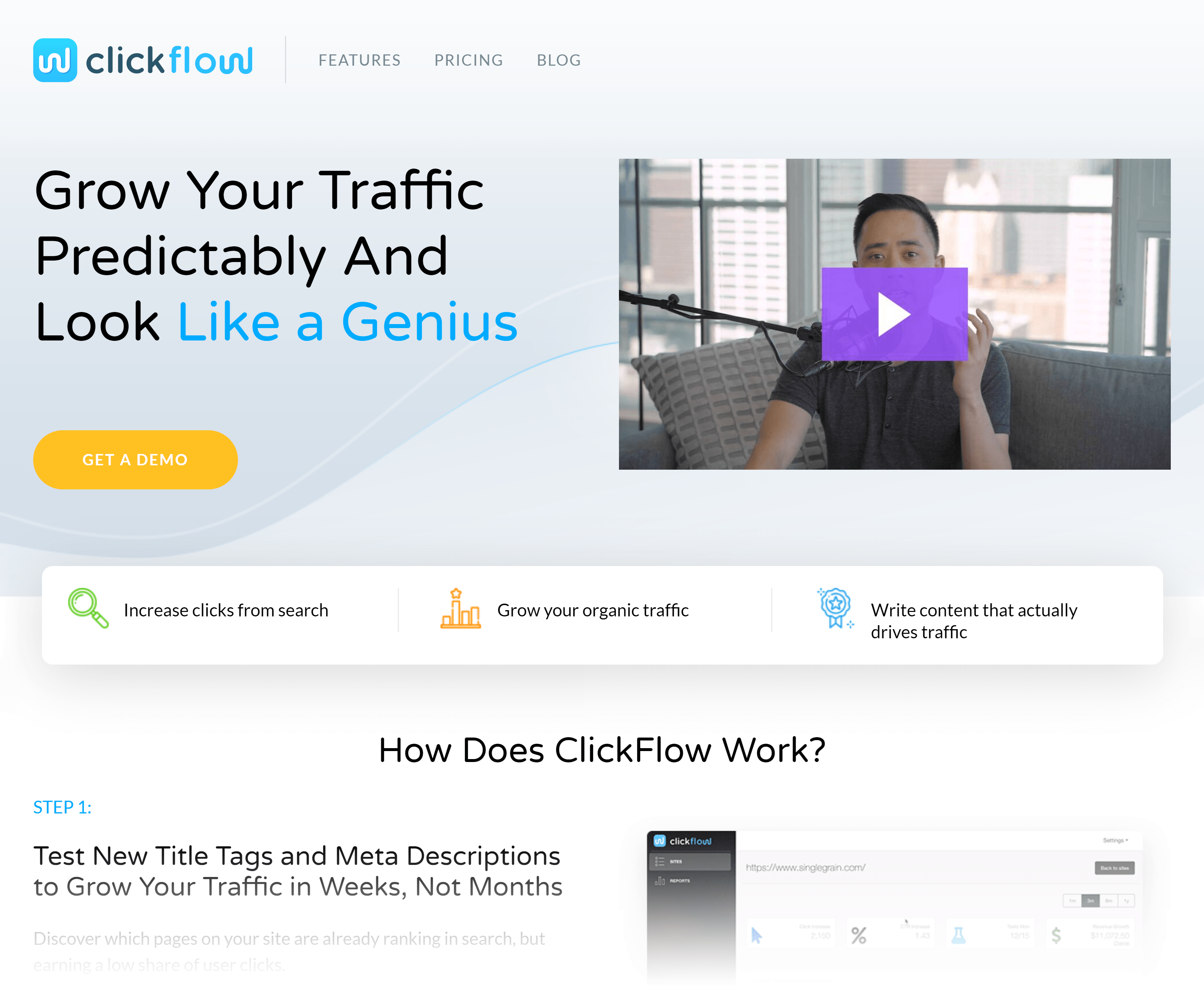 Clickflow – Homepage