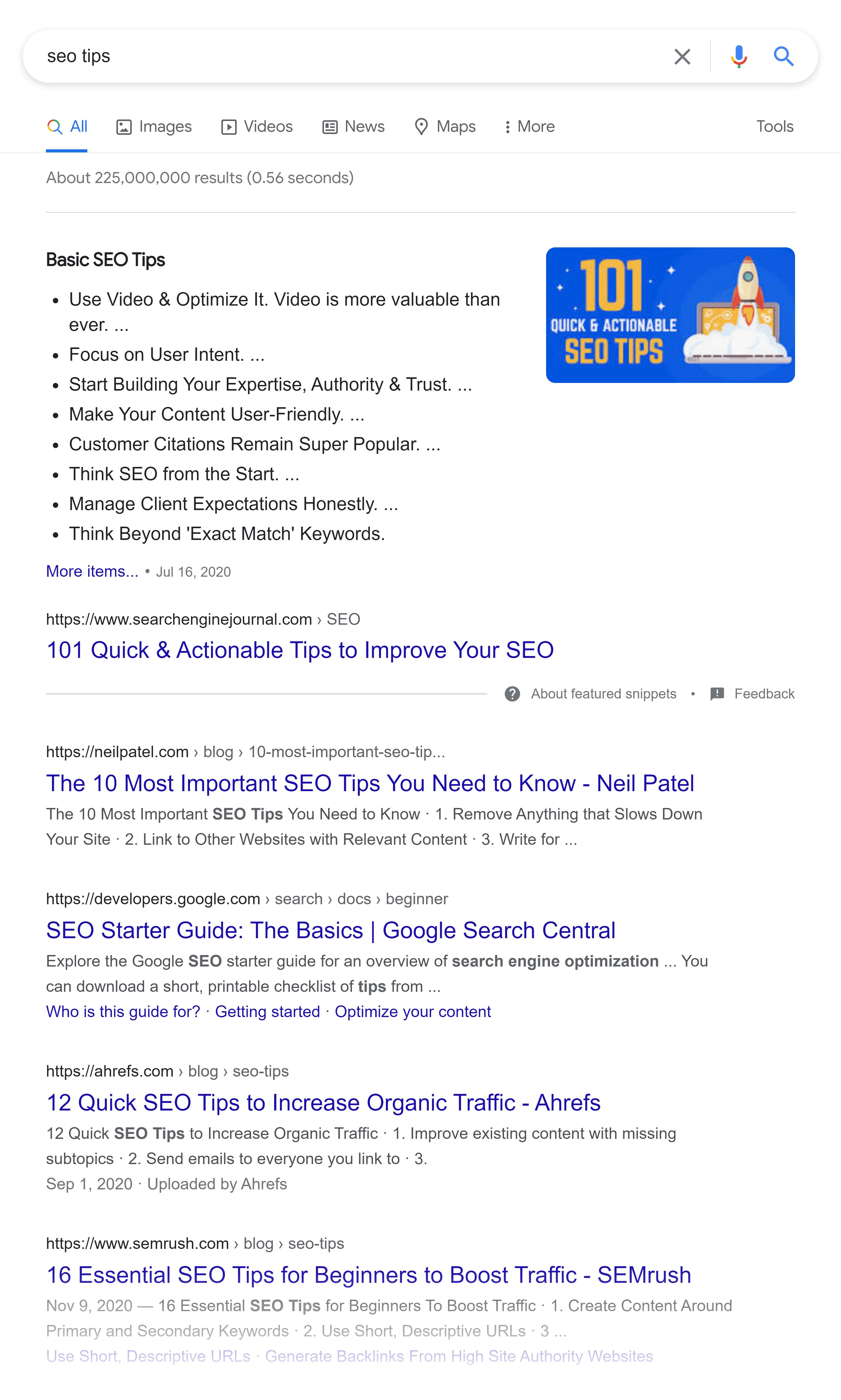 Google SERP – SEO tips