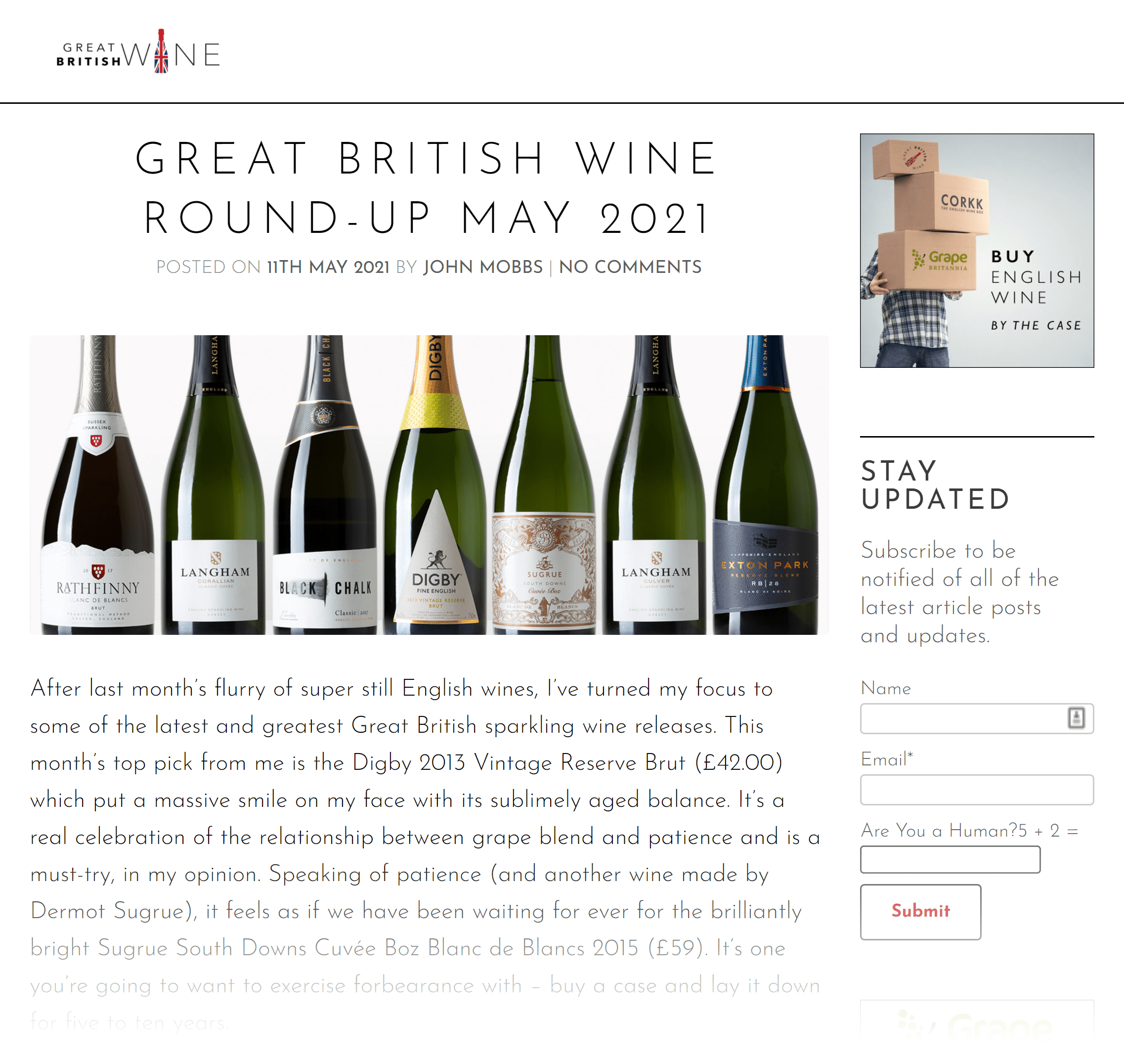 Great British Wine round-up