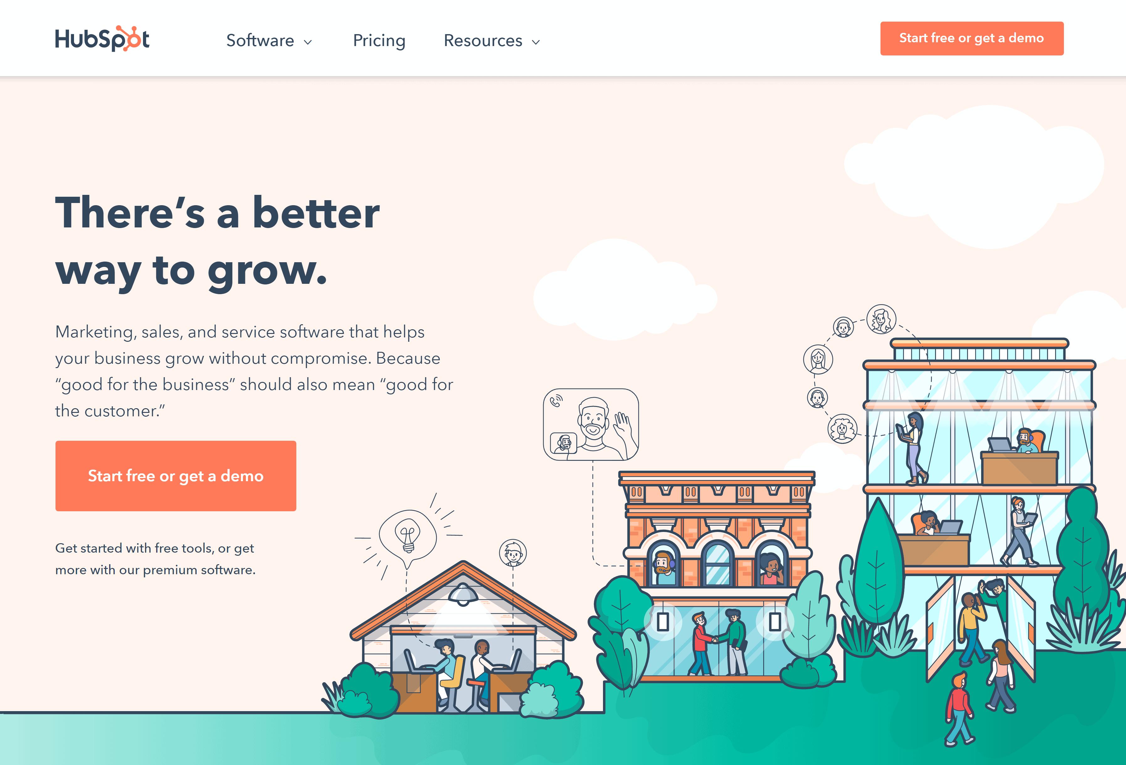 HubSpot – Homepage