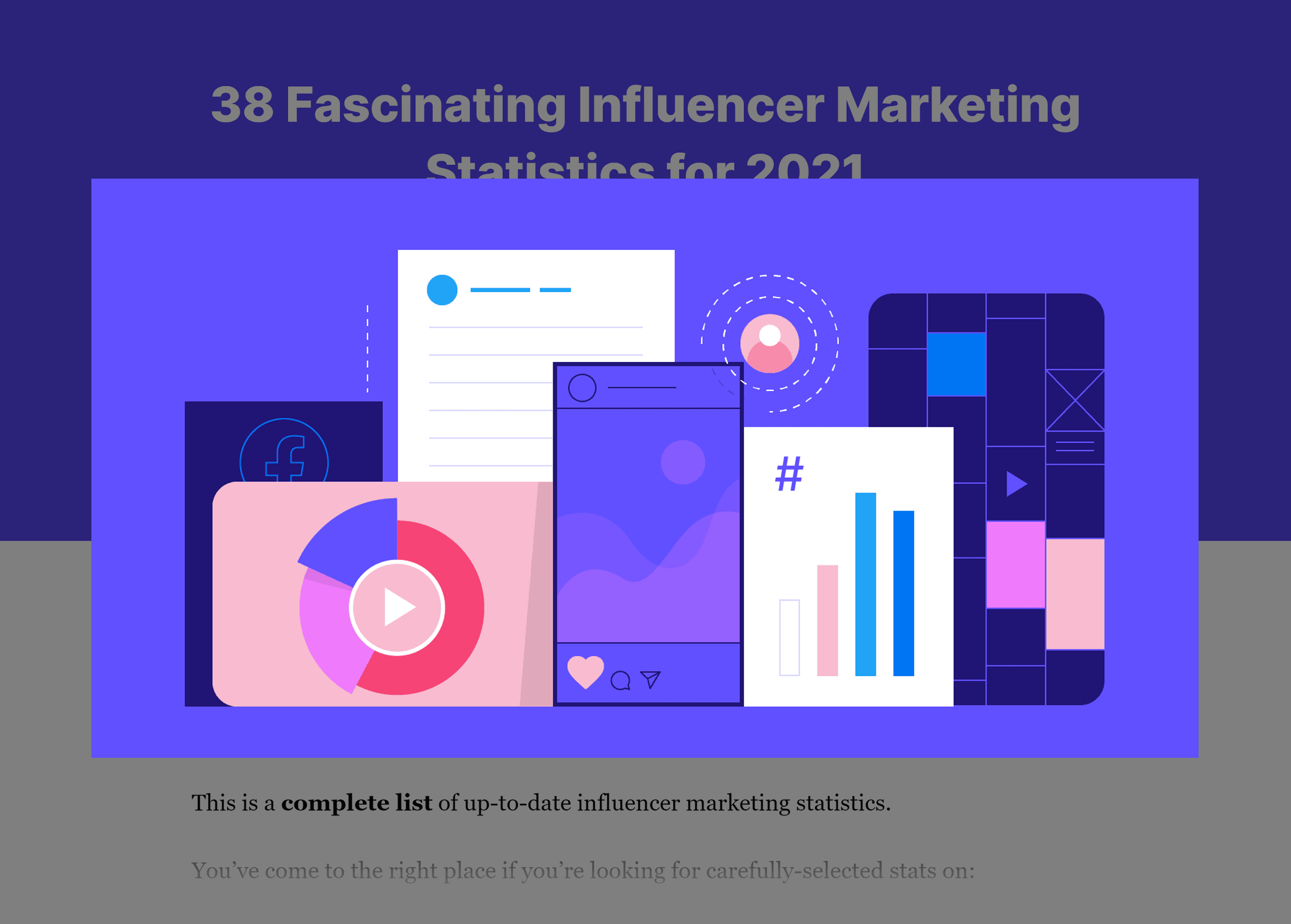 Influencer marketing stats post – Featured image