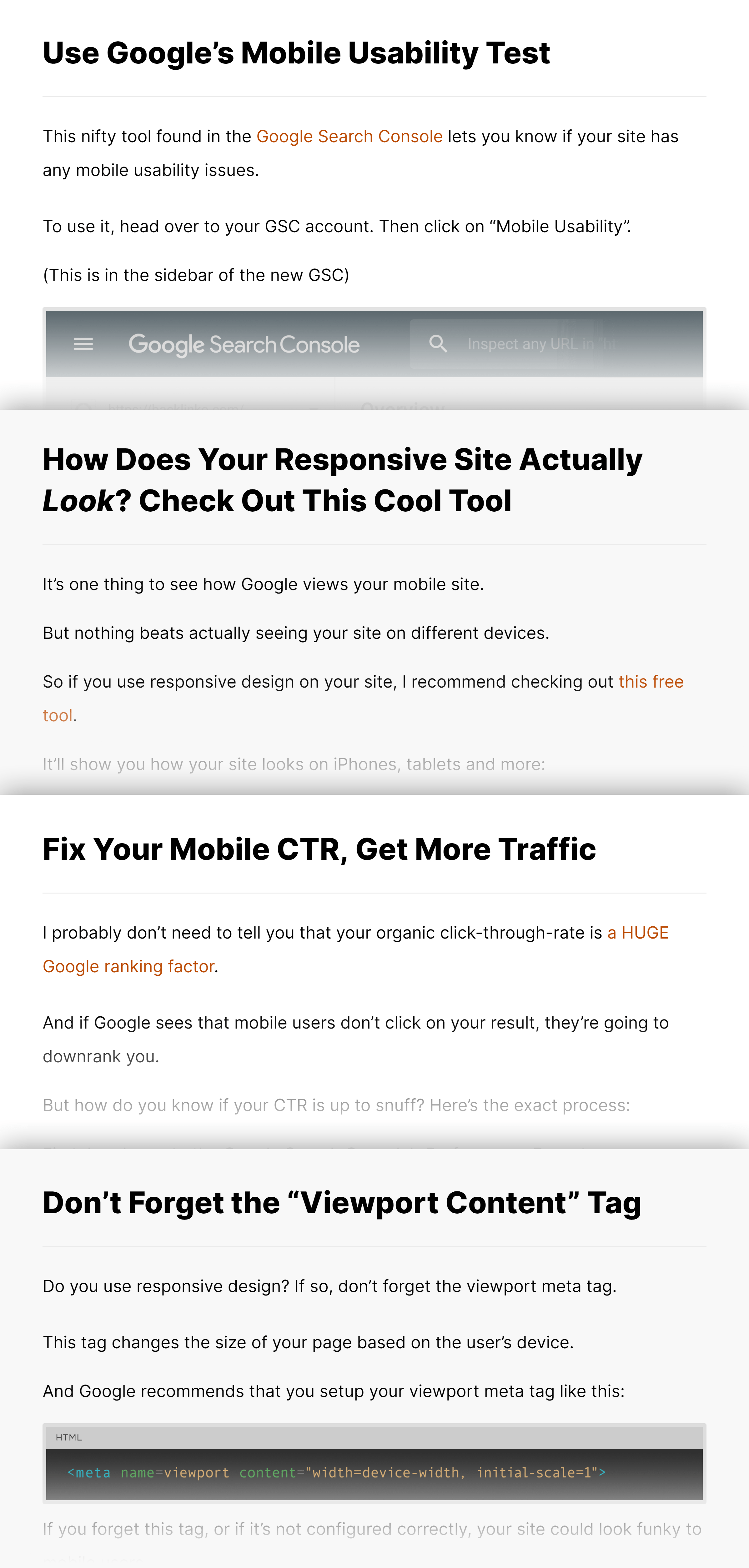 Mobile SEO guide – Actionable tips
