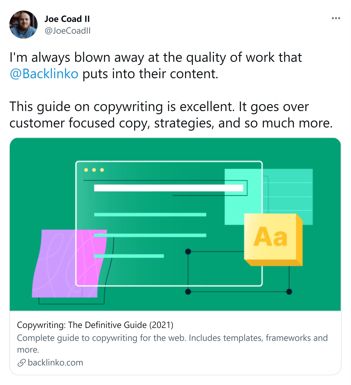 Visual in tweet