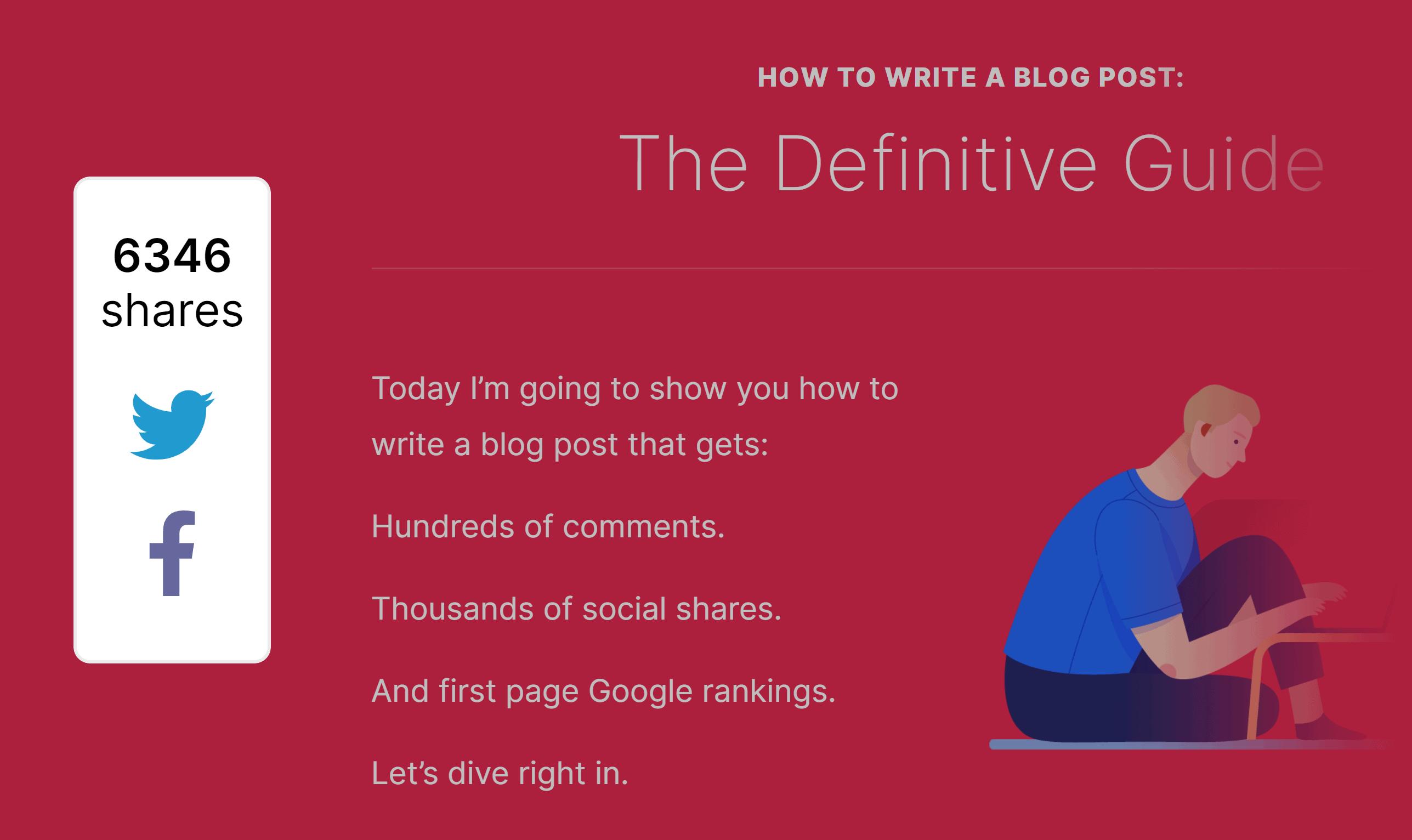 Write a blog post – Social shares