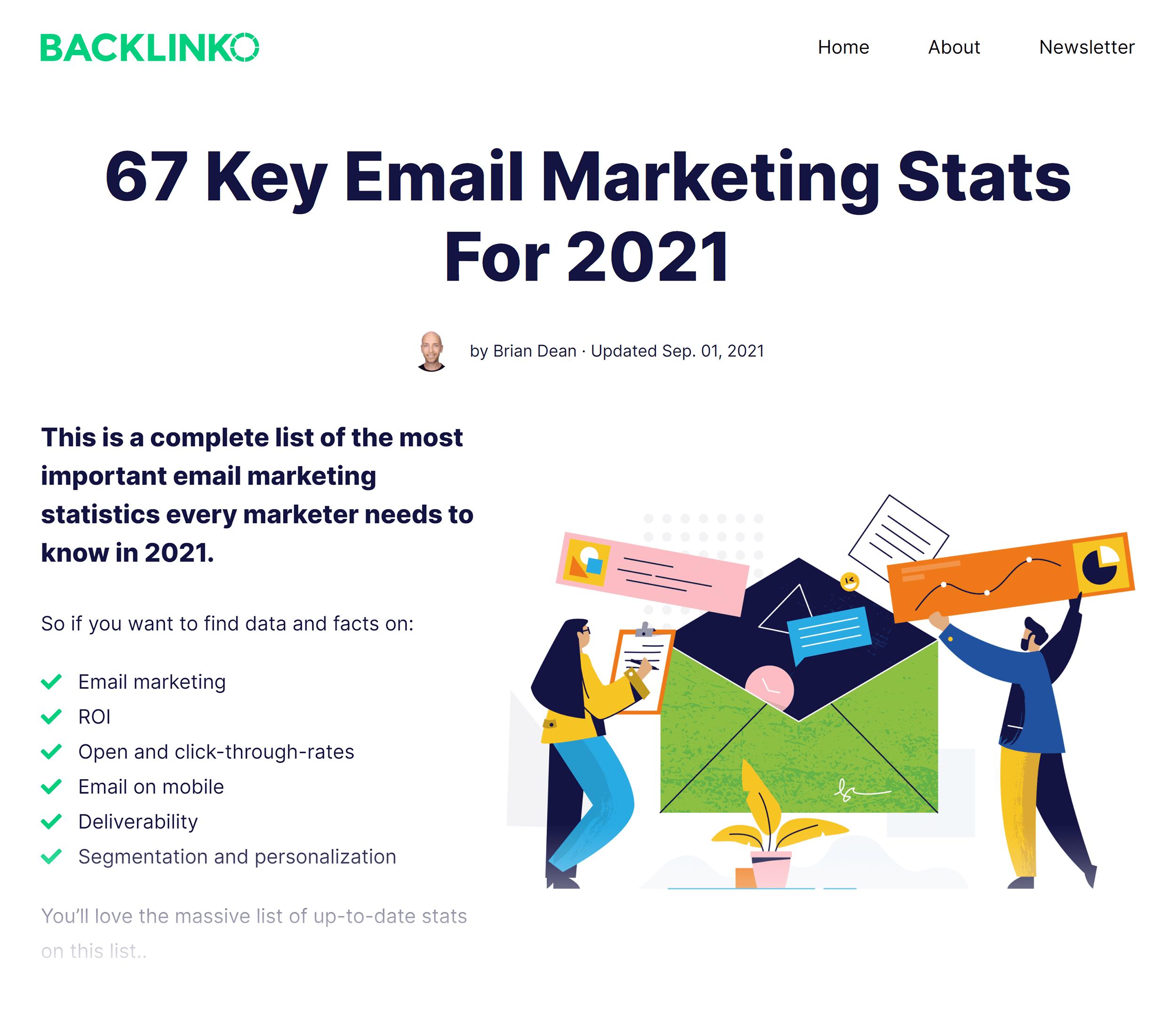 Backlinko – Email marketing stats