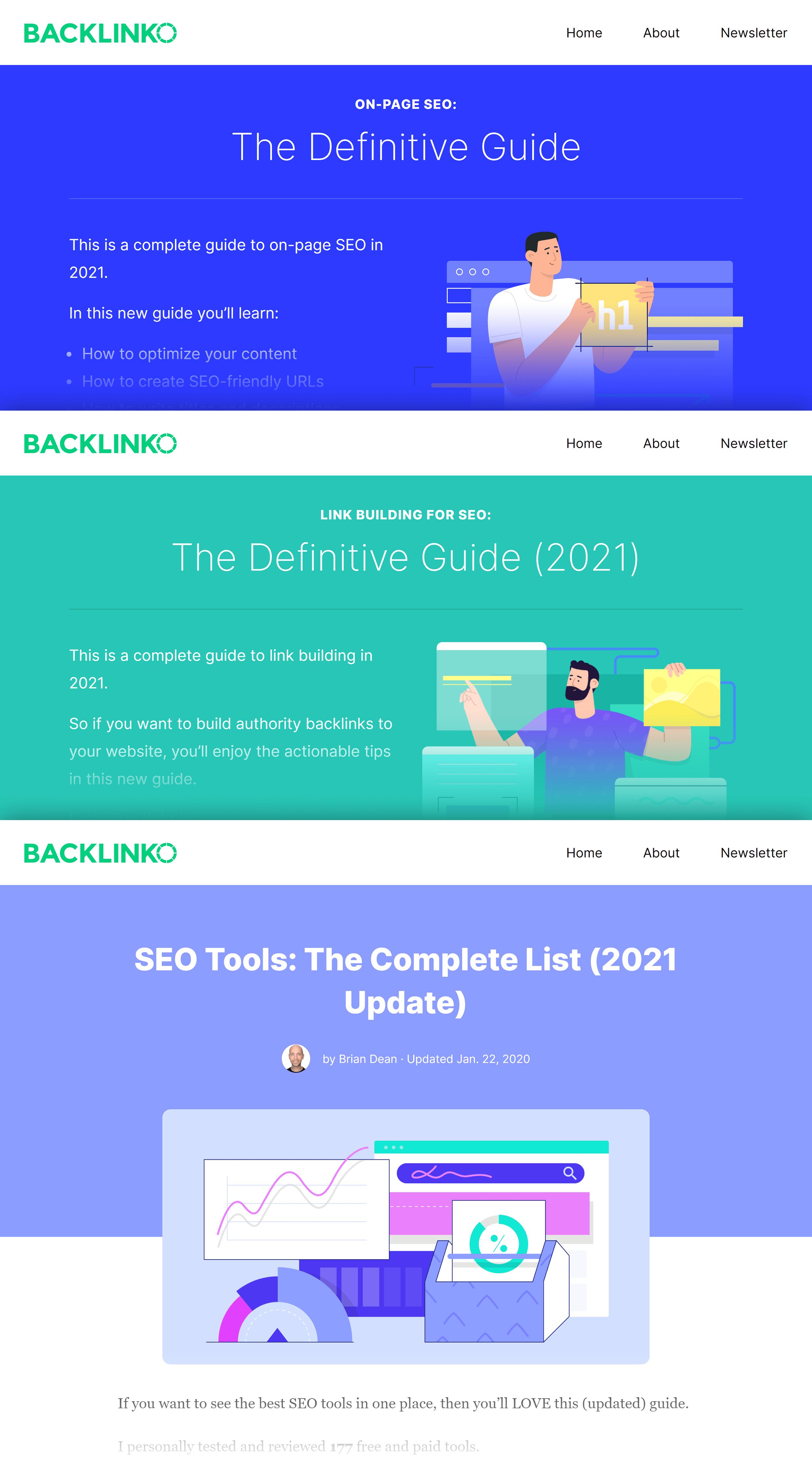 Backlinko – Post collage