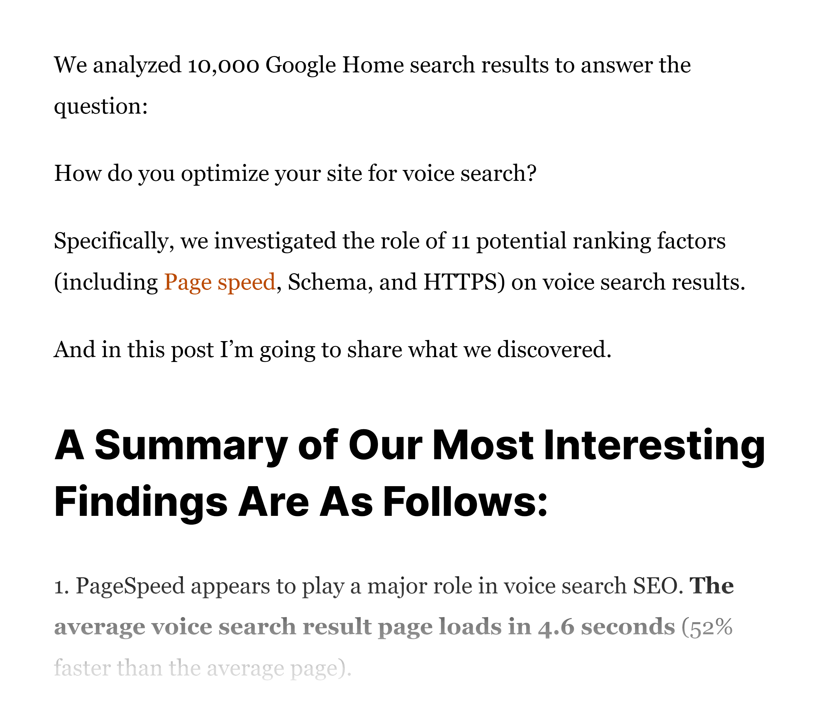 Chunks of text in post
