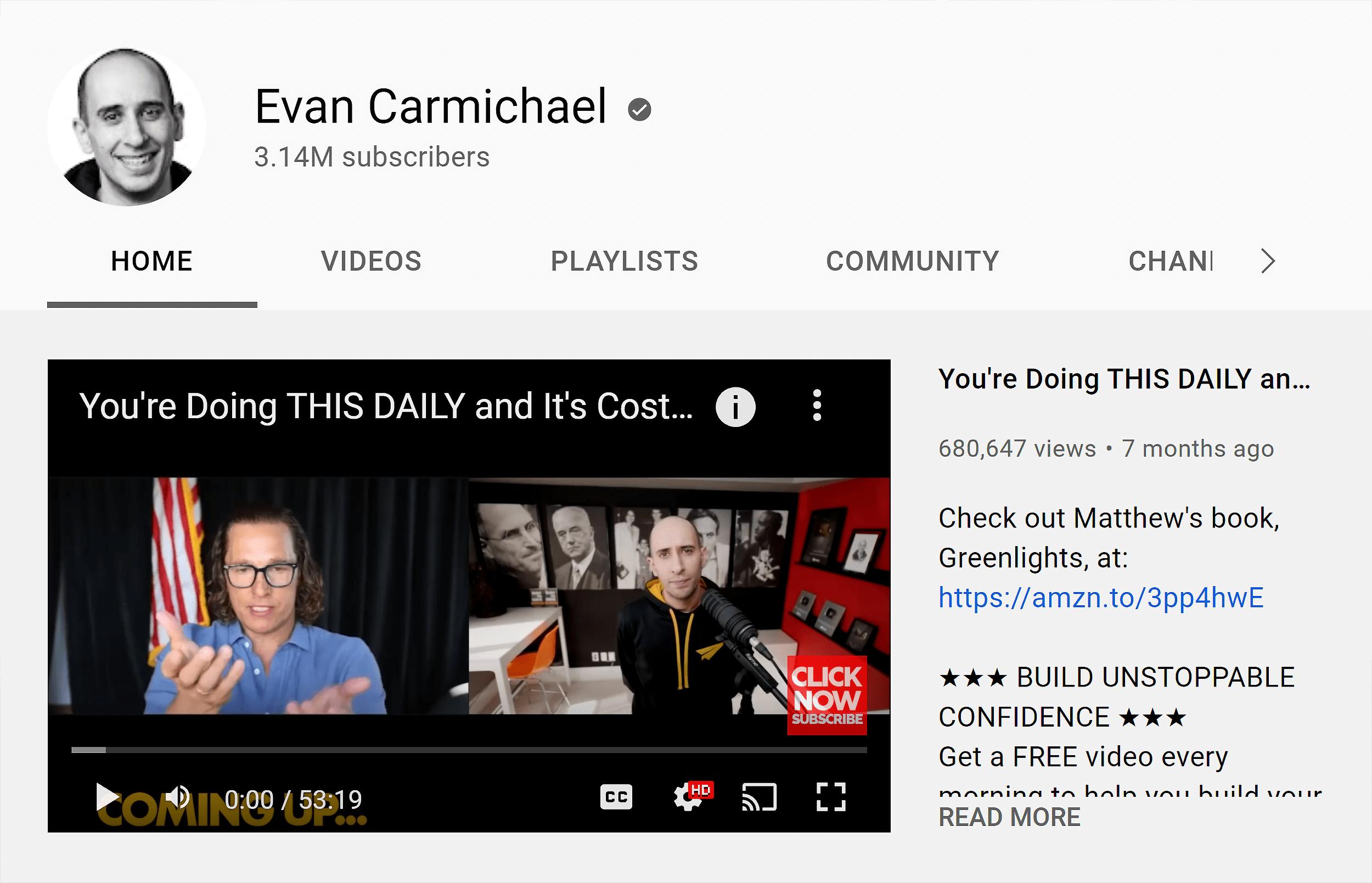 Evan Carmichael – Channel trailer