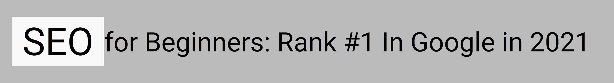 Keyword in video title