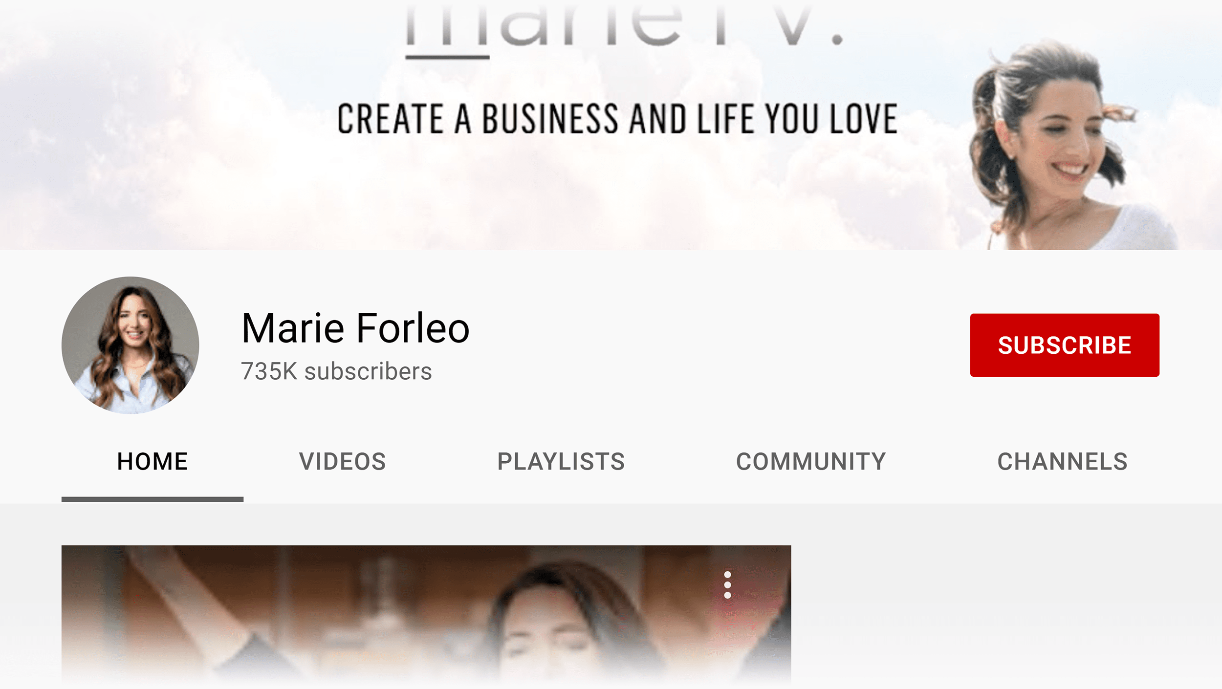 Marie Forleo channel icon
