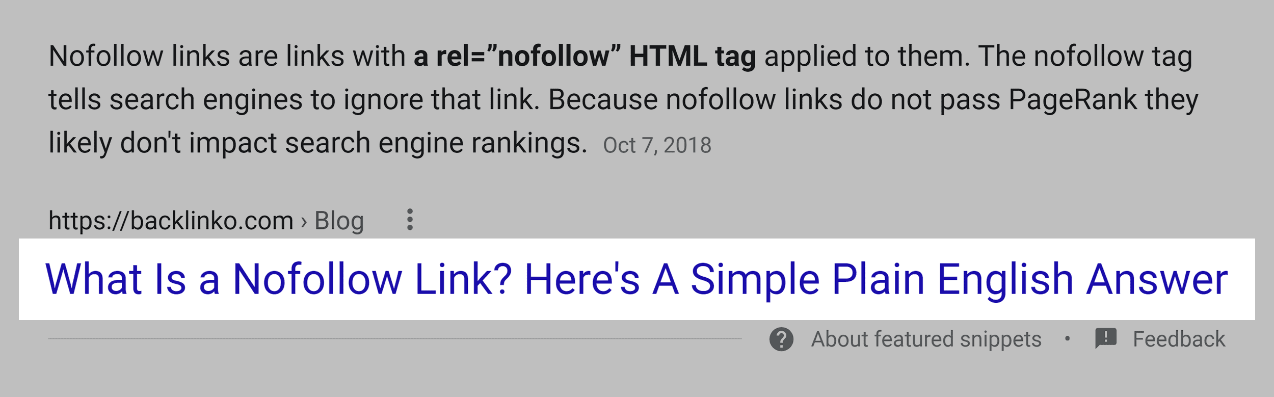 Question in title tag