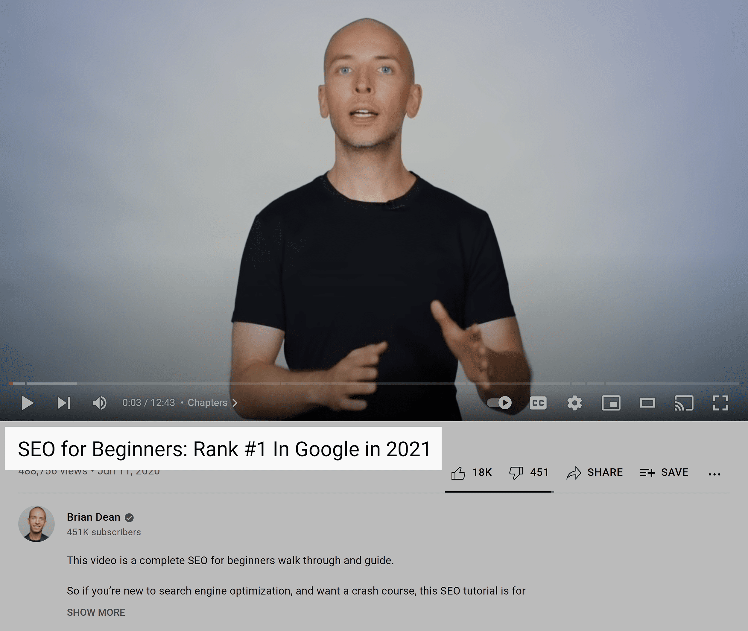 SEO for beginners video – Keyword